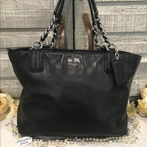 Auth Coach Madison Leather Chain Tote # 20466 GUC!